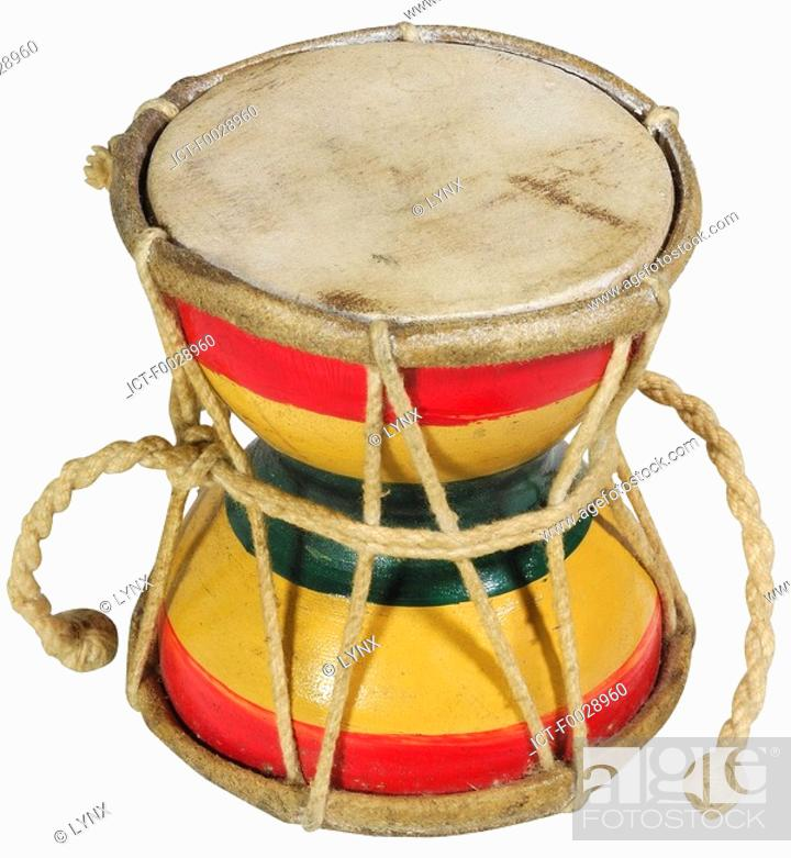Stock Photo: World symbols: Drum Damru India.