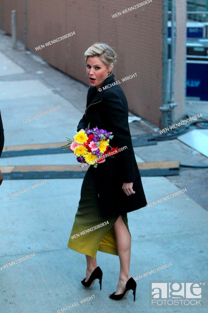 Stock Photo: Julie Bowen seen leaving the ABC studios for Jimmy Kimmel Live Featuring: Julie Bowen Where: Los Angeles, California, United States When: 27 Oct 2015 Credit:.