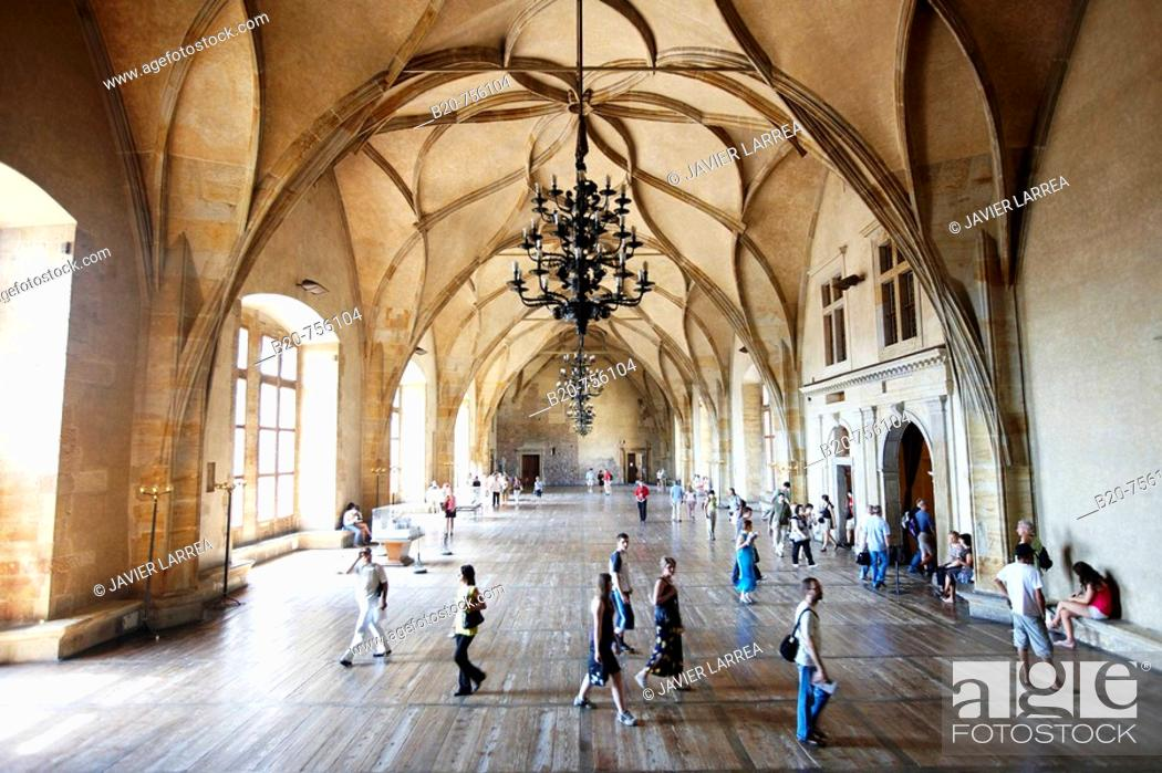 Stock Photo: Old Royal Palace, Prague Castle, Prague, Czech Republic.