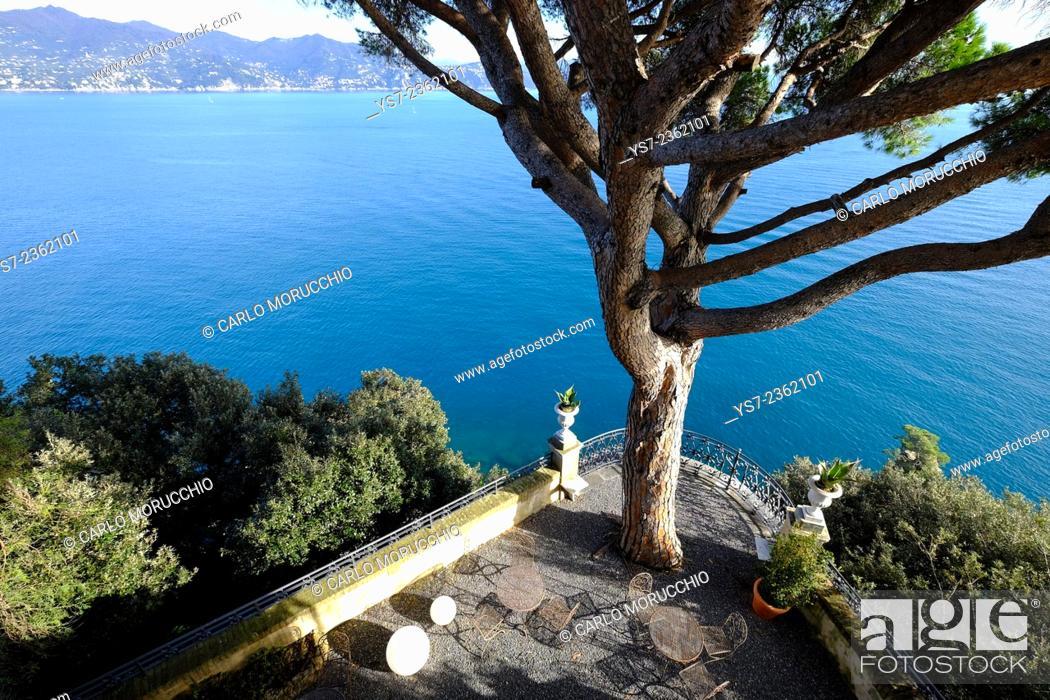 Stock Photo: The terraces at Cervara Abbey, Santa Margherita Ligure, Genova, Liguria, Italia.