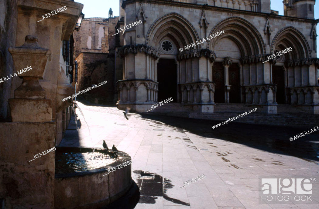 Stock Photo: Cathedral square. Cuenca. Spain.