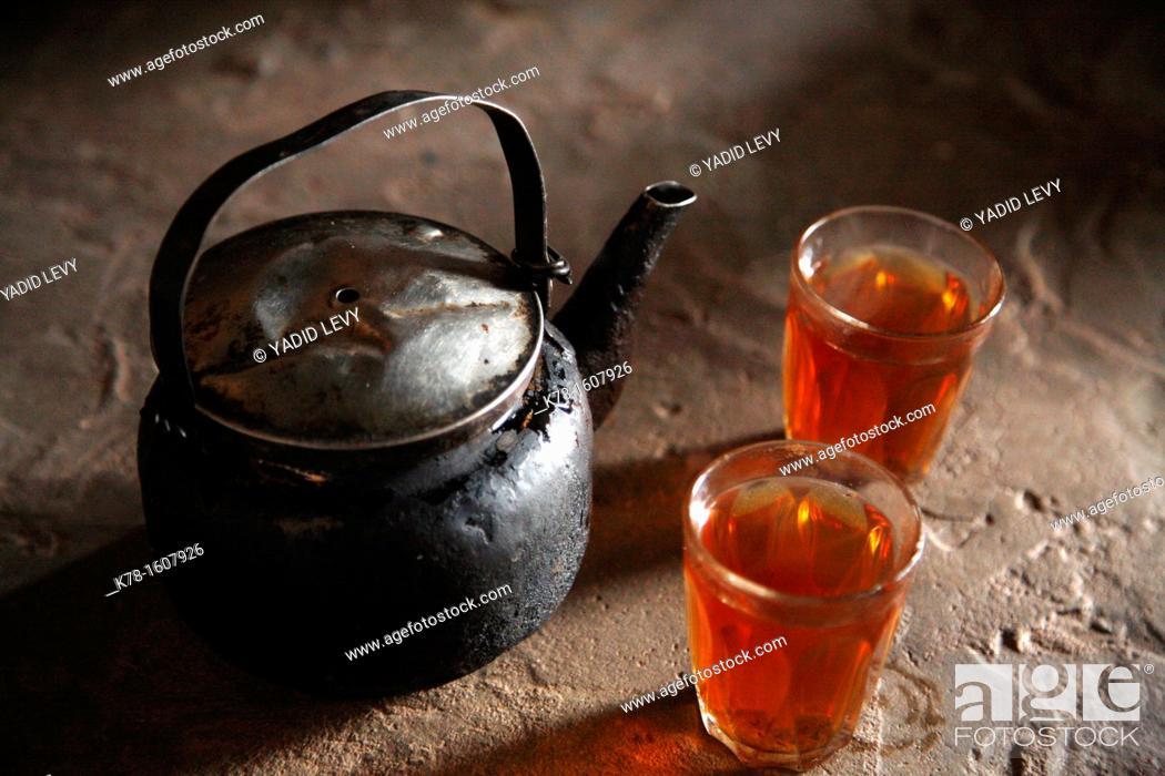 Stock Photo: Beduin tea, Petra, Jordan.