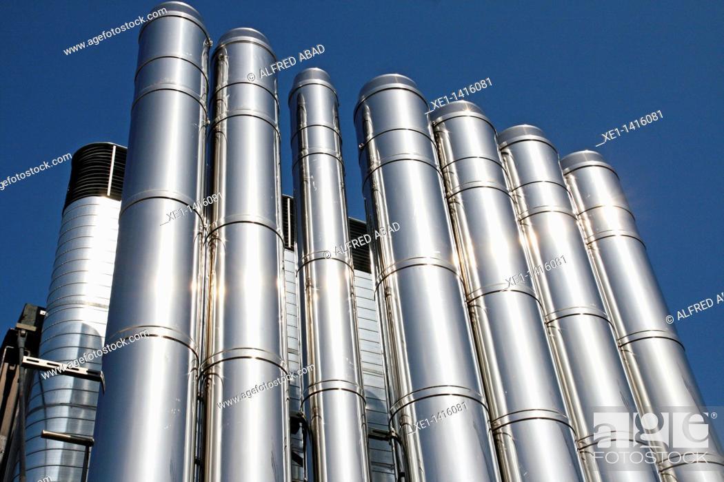 Stock Photo: installation of air conditioning, shopping center Las Arenas, Barcelona, Catalonia, Spain.