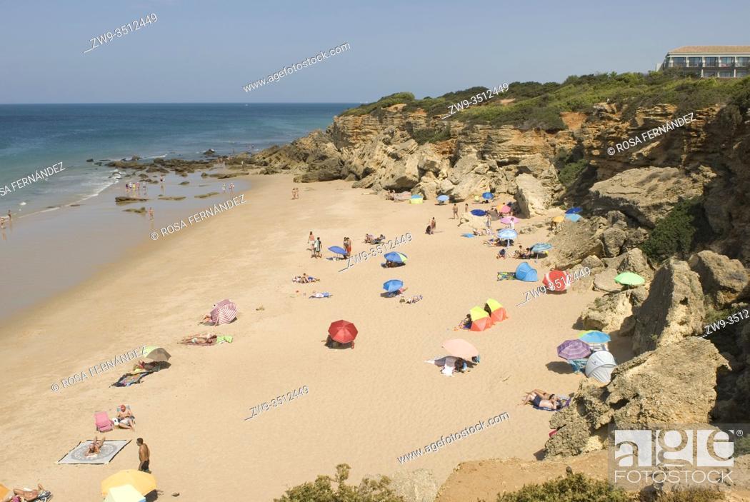 Photo de stock: Calas de Conil, Conil Coves, Frailecillo Beach, Conil de la Frontera, province of Cadiz, Andalucia, Spain.