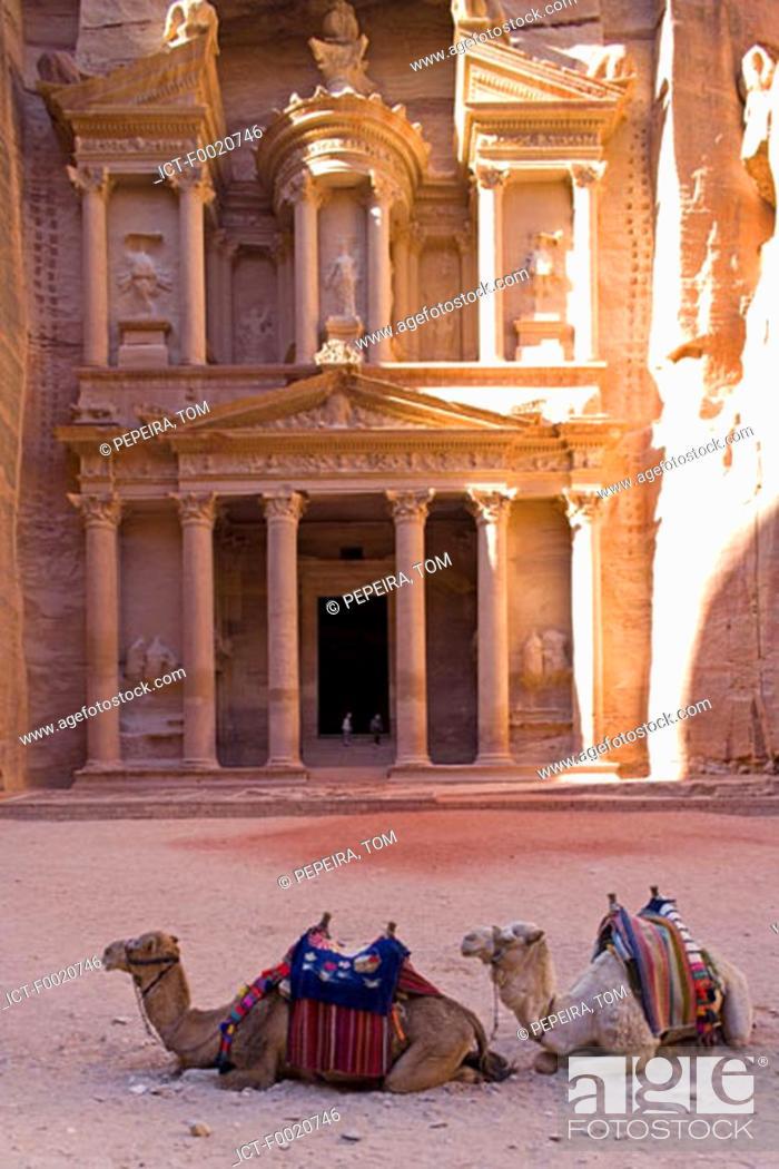 Stock Photo: Jordan, Petra, al Khazneh.