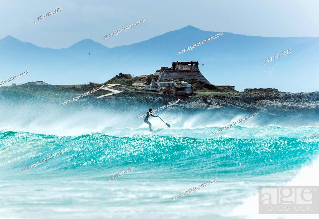 Imagen: Stand up paddle surf. Tarifa, Cadiz, Andalusia, Spain, Europe.