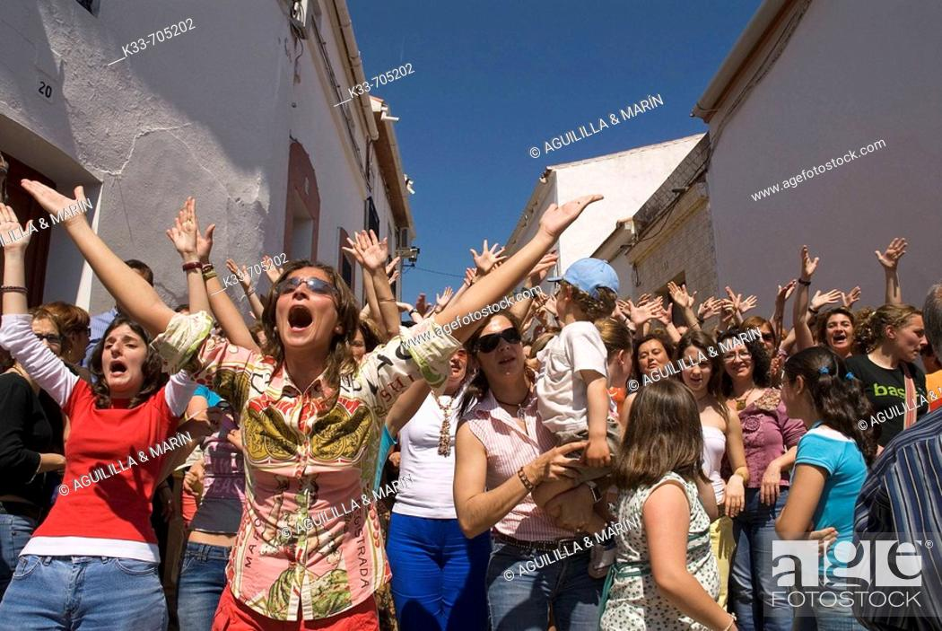 Stock Photo: Cruces de Mayo. Berrocal, Huelva, Andalusie, Spain.