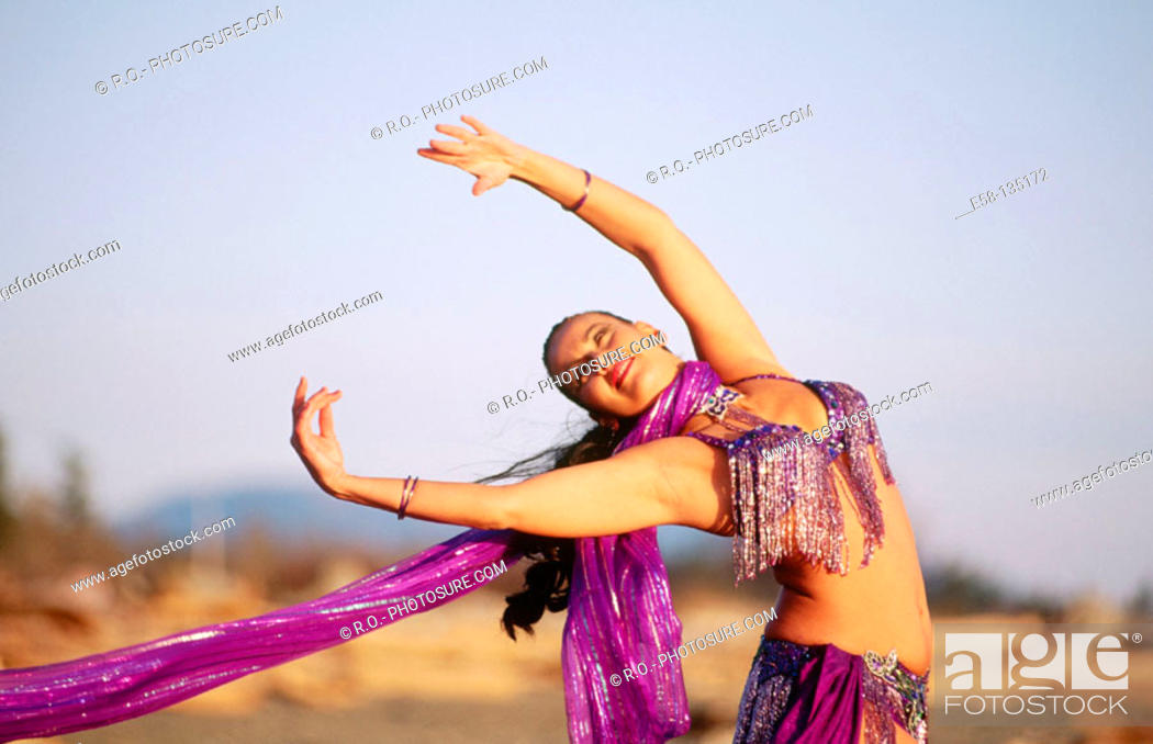 Stock Photo: Belly dancer.
