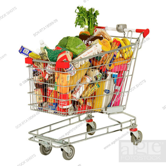 Stock Photo: shopping trolley.