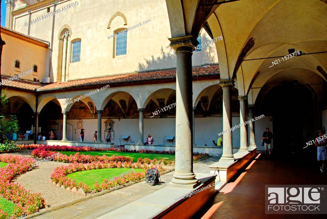 Stock Photo: Sant'Antonino cloister. Convento di San Marco, Florence, Italy.