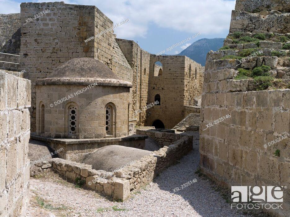 Girne Castle KYRENIA NORTHERN CYPRUS Venetian castle walls