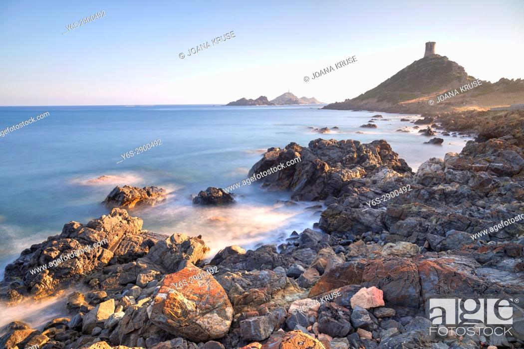 Stock Photo: Pointe de la Parata, Iles Sanguinaires, Ajaccio, Corsica, France.