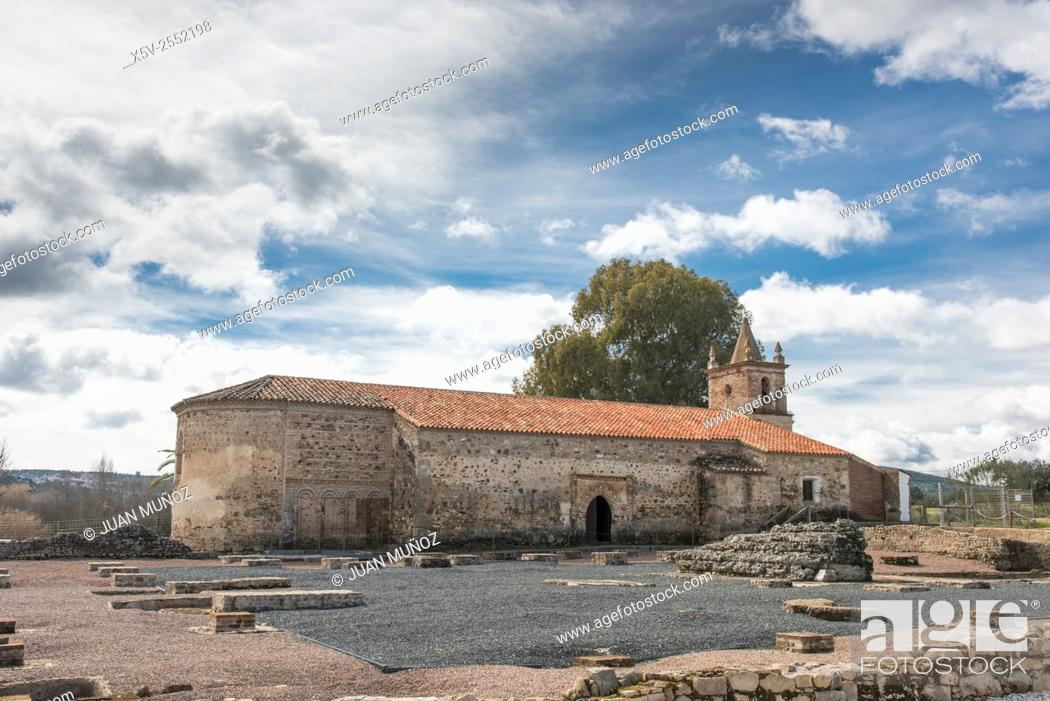 Stock Photo: Roman Ruins Turóbriga. Aroche. Huelva. Andalusia. Spain. Natural Park of Aracena and Picos de Aroche.