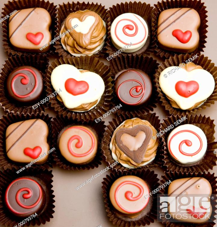 Stock Photo: chocolate candies.