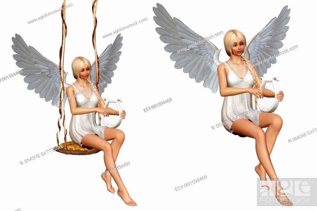 Stock Photo: angel's song.