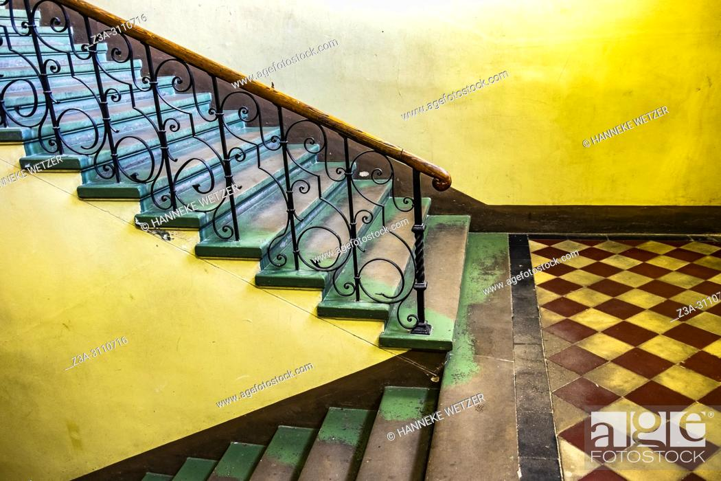 Stock Photo: Old stairs in Riga, Latvia, Baltic States.