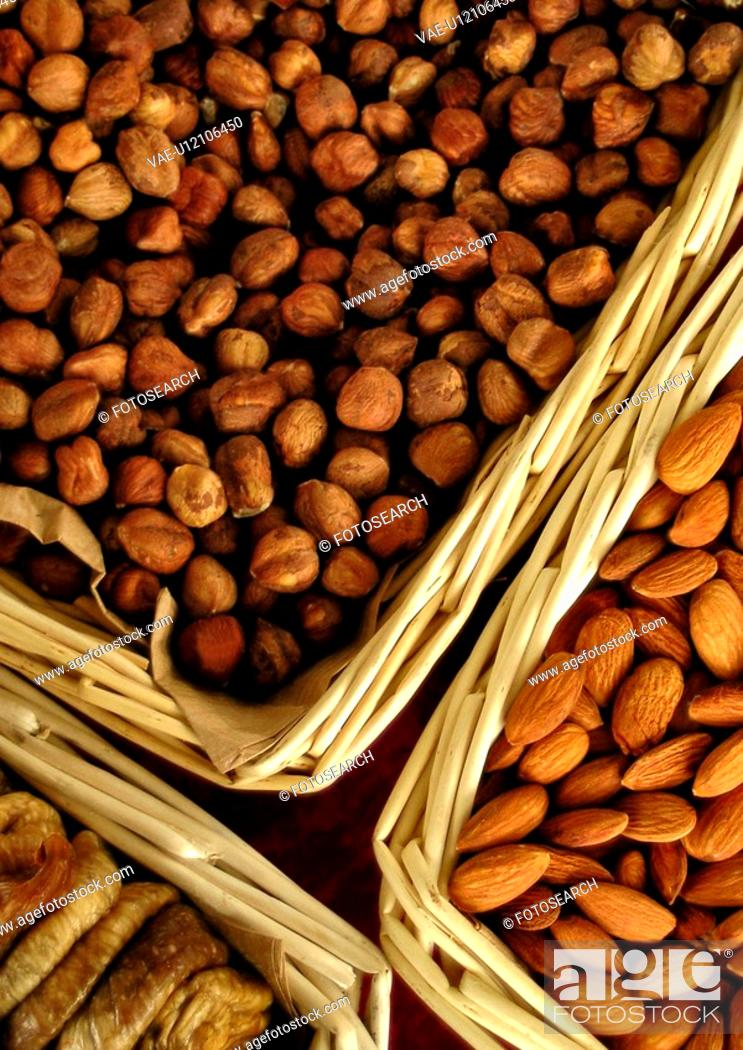 Stock Photo: eat, basket, drink, close-up, CLOSE, almond.