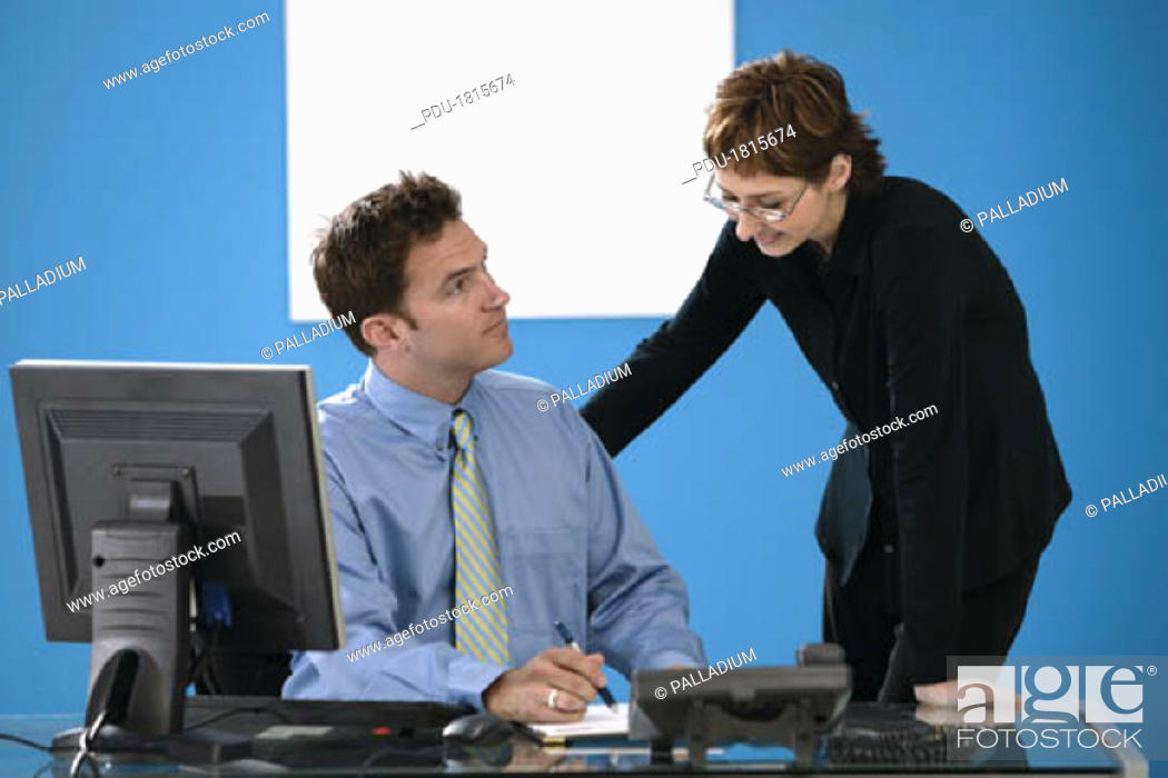 Stock Photo: Business team in office.