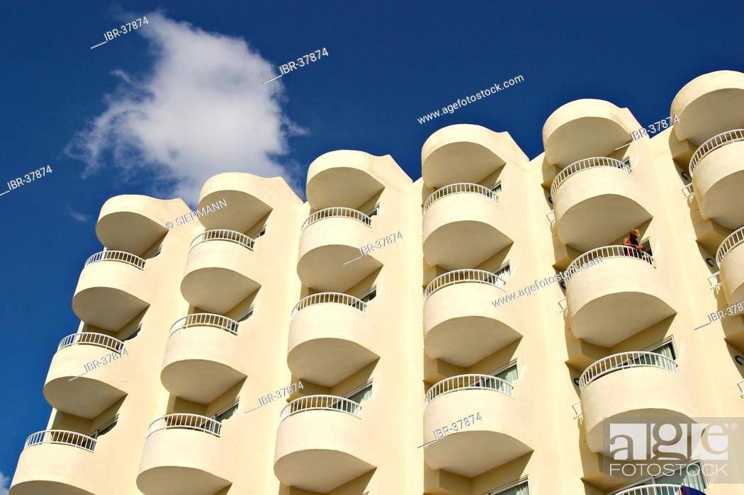 Stock Photo: Hotel in Cala de Bou near Sant Antoni de Portmany.