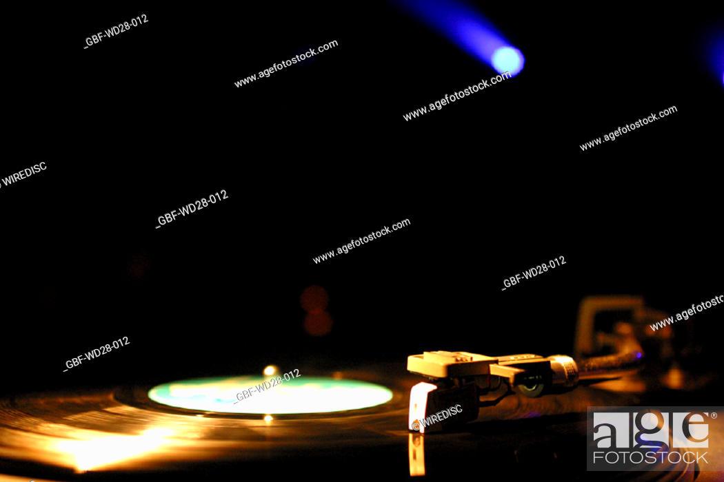 Stock Photo: Music, vinyl record, phonograph.