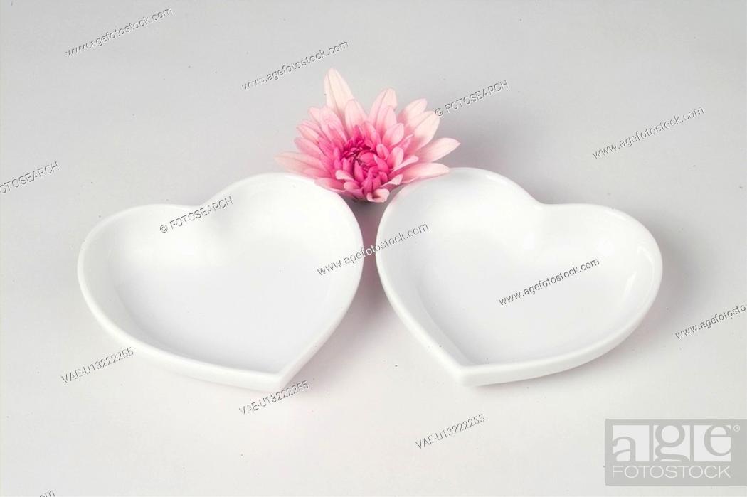 Stock Photo: interior, plate, house item, ceramic, dish, flower.