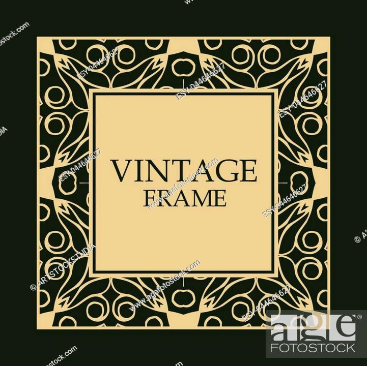 Ornate Vintage Card Design With Ornamental Border Frame Stock Vector Vector And Low Budget Royalty Free Image Pic Esy 044646627 Agefotostock