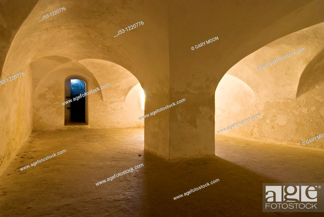 Stock Photo: Dungeon in Fort Christiansvaern, Christiansted National Historic Site, St Croix, US Virgin Islands.