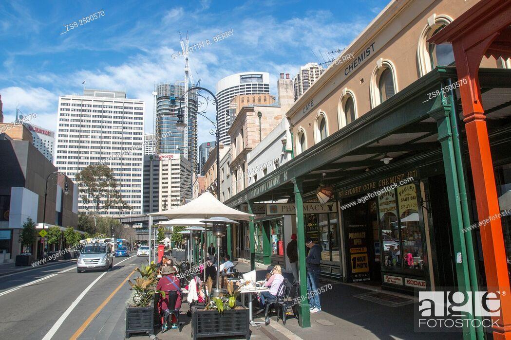 Stock Photo: Historic Rocks area of Sydney along George Street.