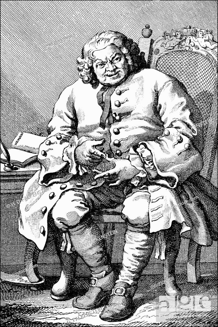 Portrait of Simon Fraser, 11th Lord Lovat, 1667 - 1747, a Scottish