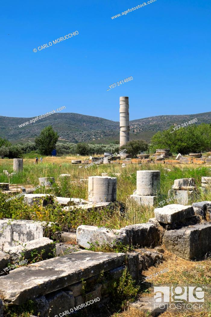 The Temple Of Hera Heraion Of Samos Samos Island North Aegean Islands Greece Europe Stock Photo Picture And Rights Managed Image Pic Ys7 2414880 Agefotostock