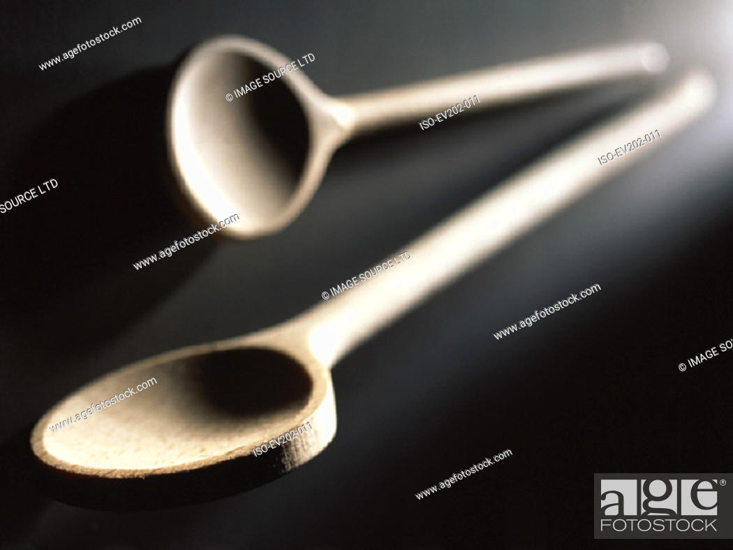 Stock Photo: Wooden spoons.