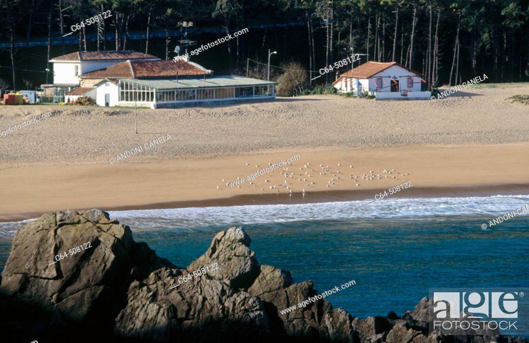 Stock Photo: Laga beach (Lagako hondartza), Urdaibai (Gernika estuary) Biosphere Reserve. Biscay, Euskadi, Spain.