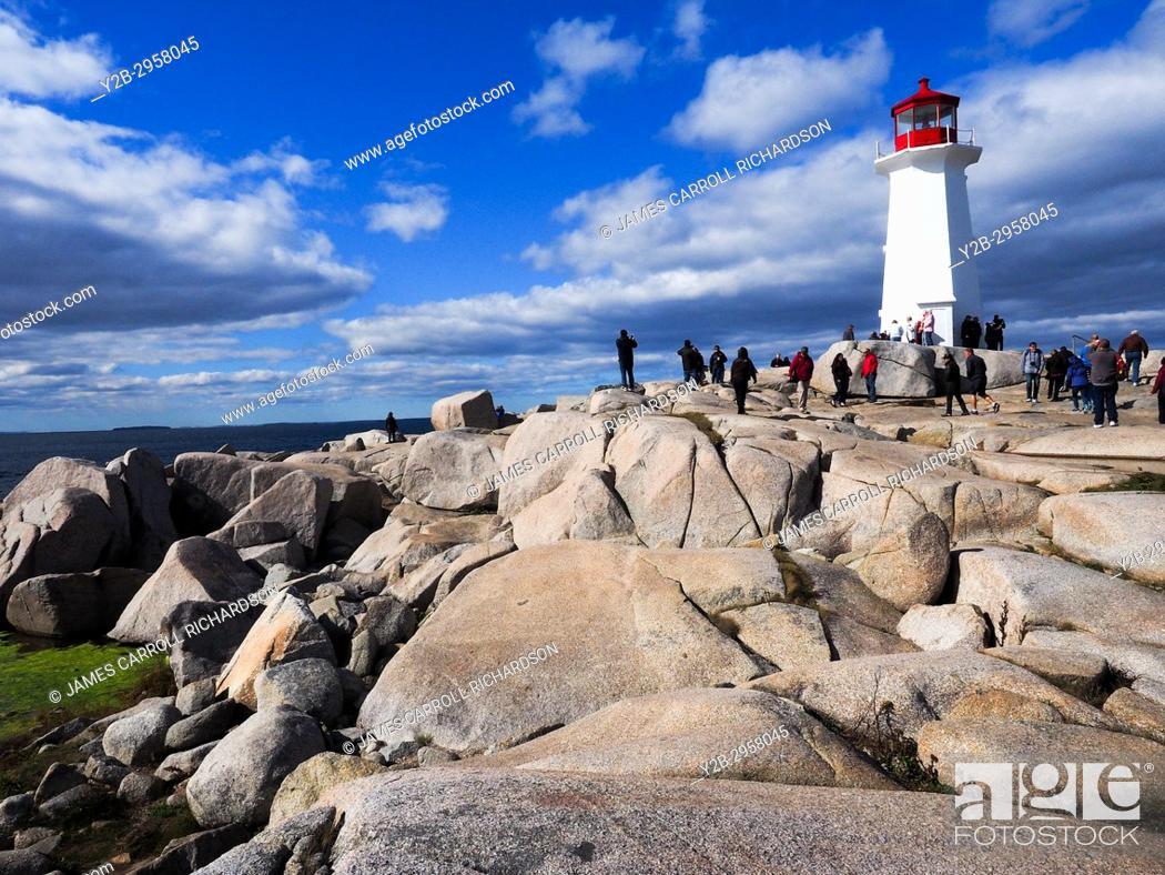 Stock Photo: Canada, Nova Scotia, Halifax, Peggys Cove.