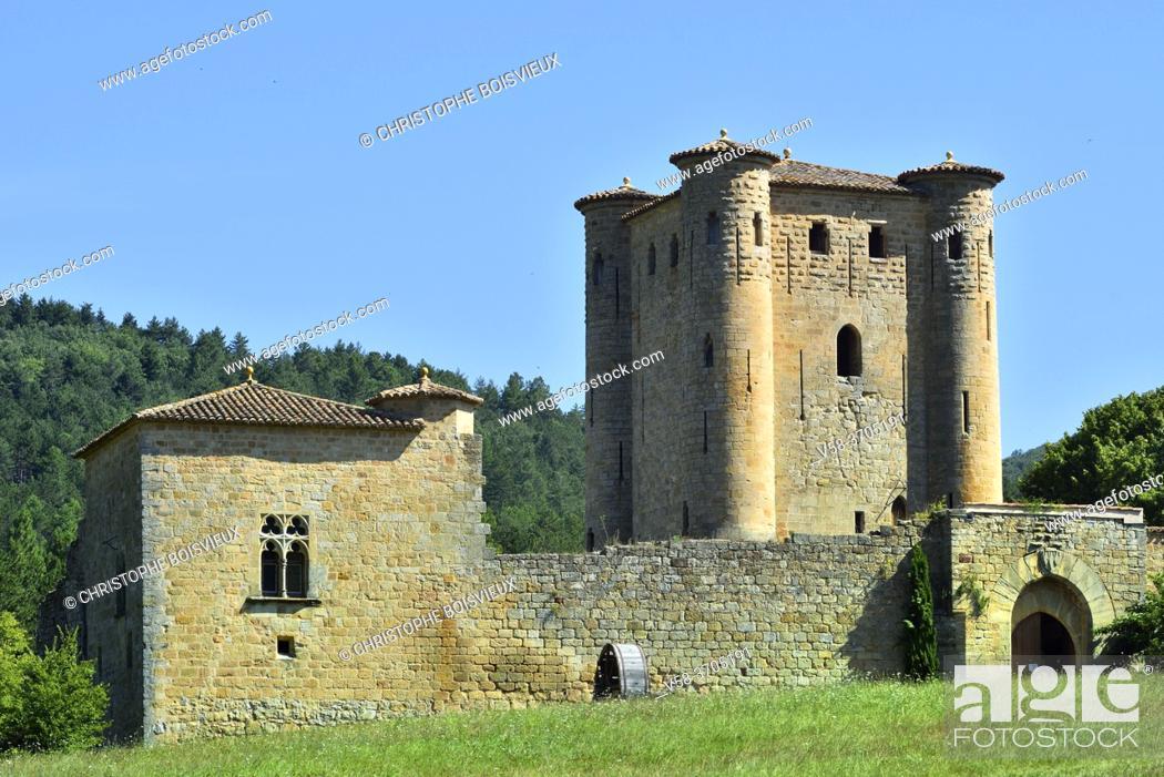 Stock Photo: France, Aude, Arques castle (13th C).