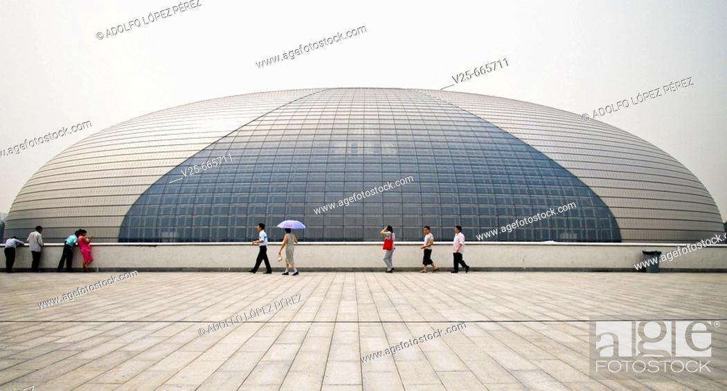 Stock Photo: National Grand Theater. Beijing. China.