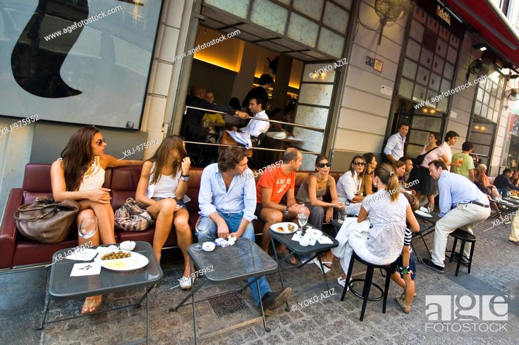 Stock Photo: milan, corso garibaldi, radetzky cafe.