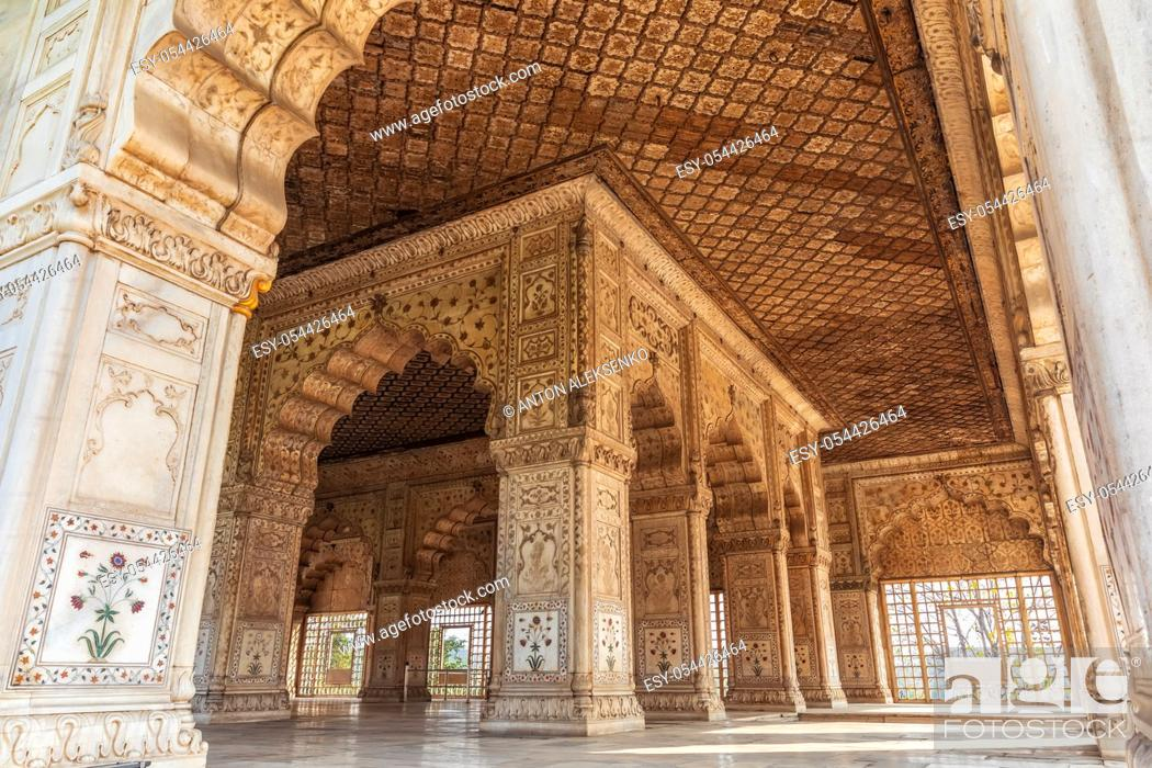 Stock Photo: Khas Mahal in India, Red Fort of Delhi.