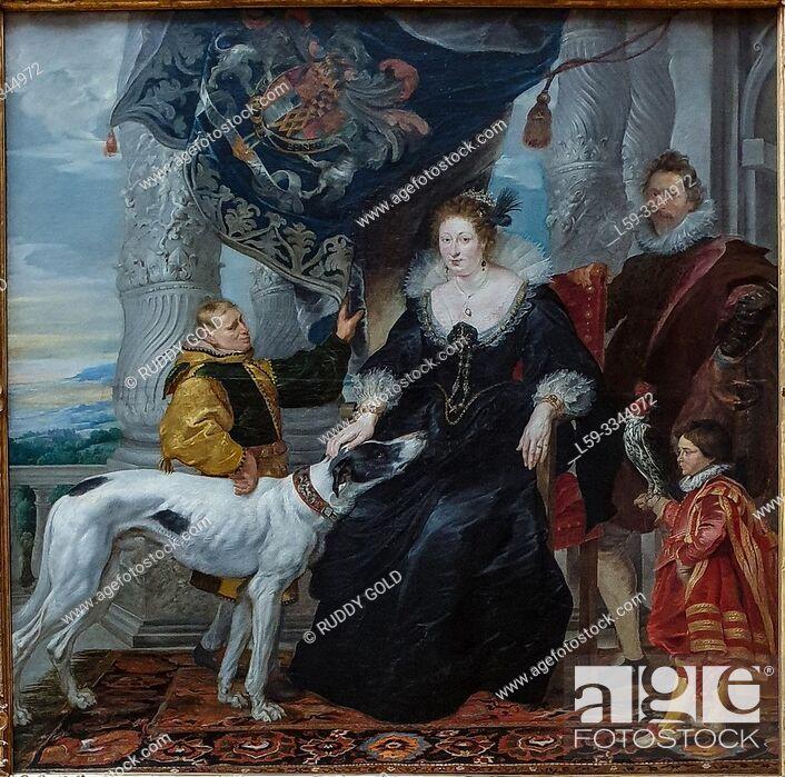 Stock Photo: 'Aletheia Talbot, Countess of Arundel', 1620, Peter Paul Rubens (1577-1640).