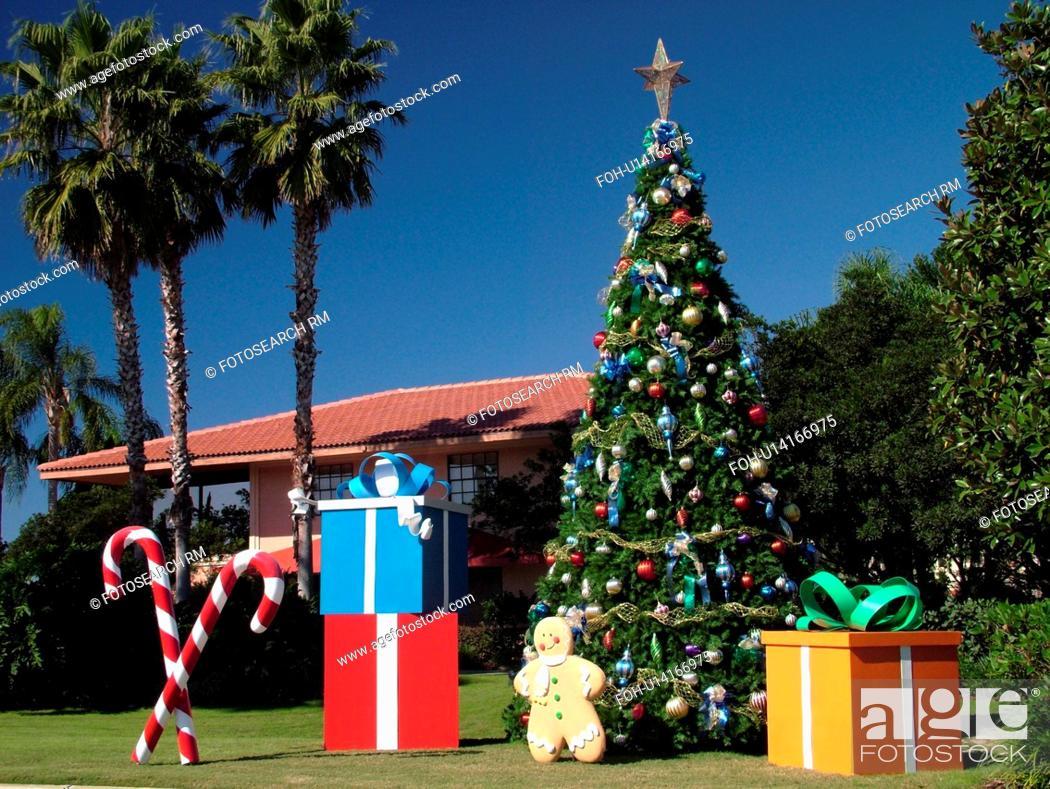 Stock Photo - Orlando, FL, Florida, Orange Lake Resort, Christmas decorations