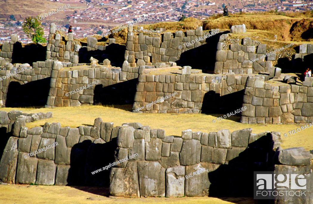 Stock Photo: Walls in Sacsahuaman. Cuzco. Peru.