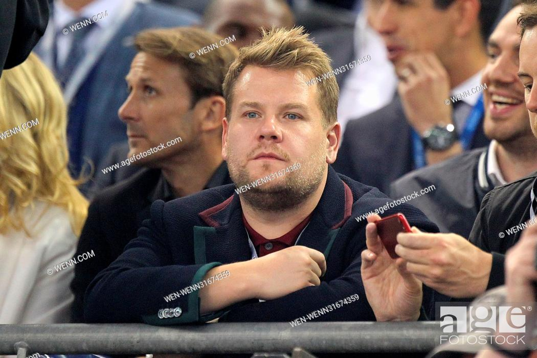 Stock Photo: James Corden pictured at the UEFA Champions League Final in Cardiff Featuring: James Corden Where: Cardiff, United Kingdom When: 04 Jun 2017 Credit: WENN.