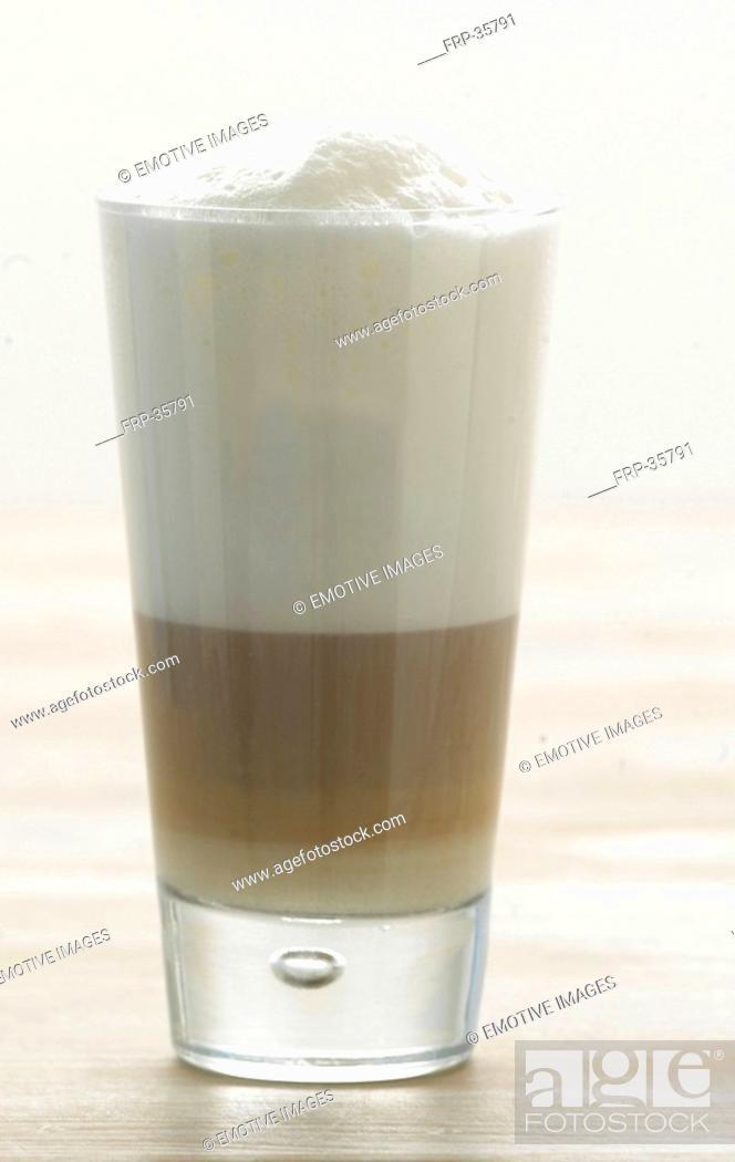 Stock Photo: Milky coffee.