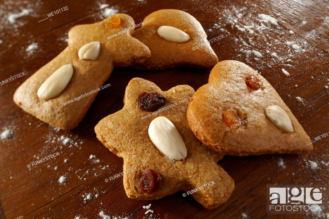 Stock Photo: Traditional spicy Christmas biscuits - Hungarian.