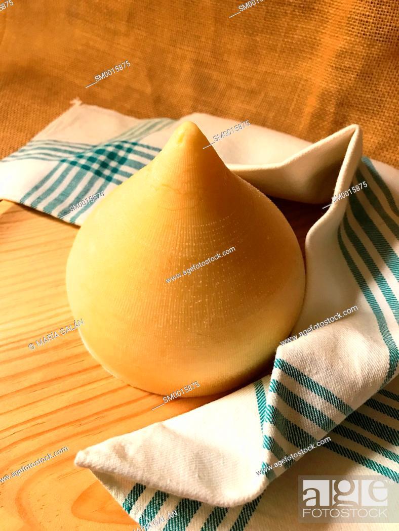 Photo de stock: Tetilla cheese. Galicia, Spain.
