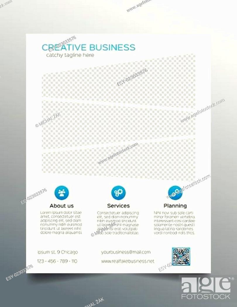 Stock Vector: Business flyer template - sleek corporate design.