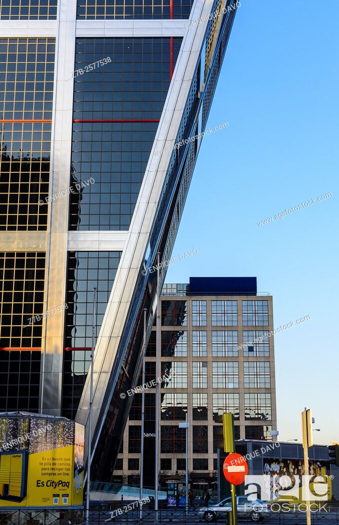 Stock Photo: An urban view in Castilla square, Madrid, Spain.