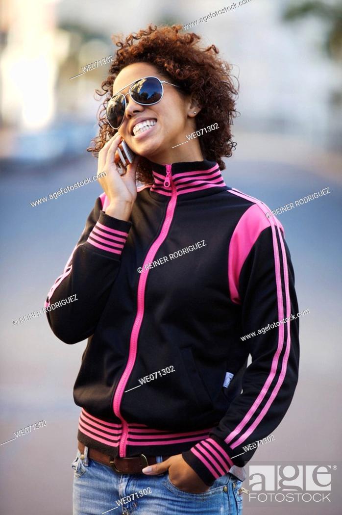 Stock Photo: woman, ethnic background: half Cuban, half German.