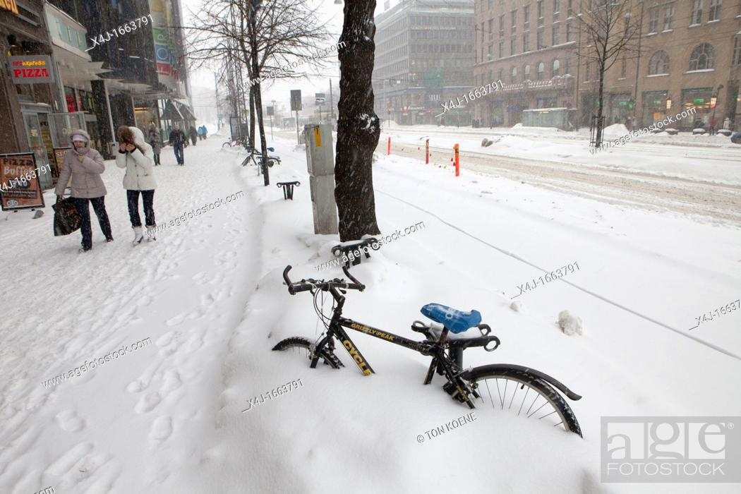 Stock Photo: snow in helsinki.
