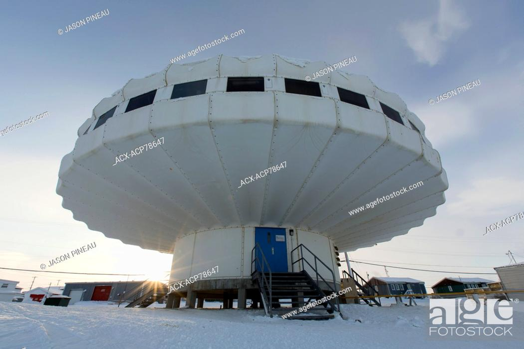 Stock Photo: A government research centre in Igloolik, Nunavut, Canada.