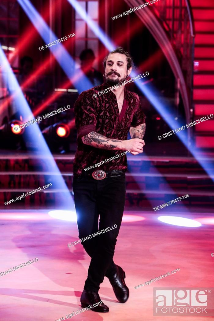 Imagen: Dani Osvaldo during the performance at the tv show Ballando con le stelle (Dancing with the stars) Rome, ITALY-27-04-2019.